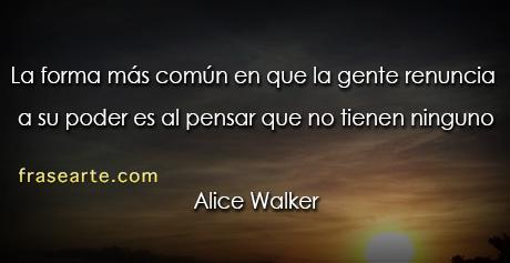 Citas de Alice Walker para pensar